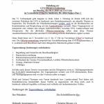 Einladung zur GVS-Obleuteversammlung